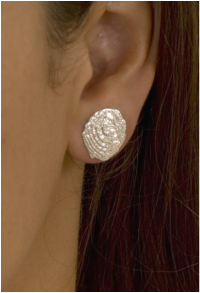 Round Silver earstuds
